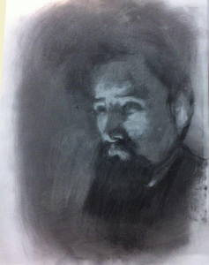 Study of Portrait of Seurat by Laurent