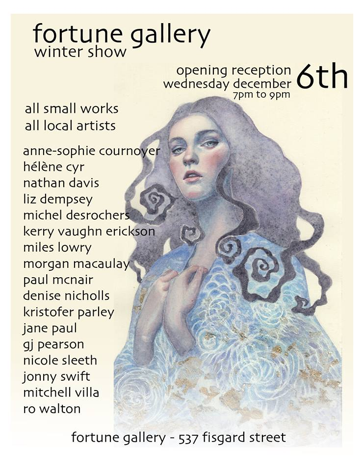 Fortune Gallery Winter Show invitation
