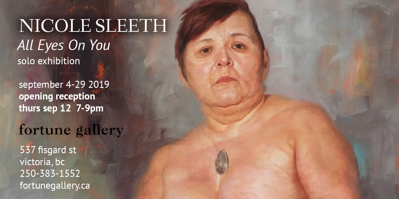 All Eyes On You: solo exhibition September 4-29 2019 at Fortune Gallery